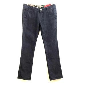 Allison Izu Dark Rinse Straight Leg Jeans J3